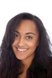Muchacha india asiática sonriente con el pelo negro largo Fotografía de archivo libre de regalías