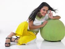 Muchacha india con el peinado hermoso Imágenes de archivo libres de regalías