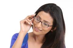 Muchacha india con las lentes Imágenes de archivo libres de regalías