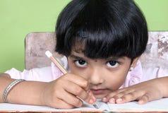 Muchacha india de la escuela Fotografía de archivo