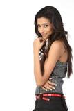 Muchacha india en la expresión agradable de la cara Fotografía de archivo libre de regalías