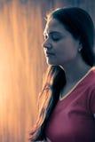 Muchacha india en la meditación Fotografía de archivo libre de regalías