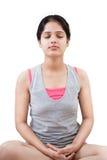 Muchacha india en la meditación Imágenes de archivo libres de regalías