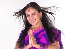 Muchacha india en la postura agradable Imagen de archivo