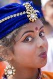 Muchacha india joven del retrato en Nueva Deli, la India Imagen de archivo libre de regalías
