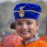 Muchacha india joven del retrato en Nueva Deli, la India Fotos de archivo