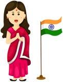 Muchacha india linda en vestido tradicional ilustración del vector