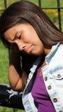 Muchacha infeliz adolescente triste Imagen de archivo libre de regalías