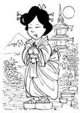 Muchacha japonesa libre illustration