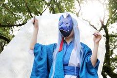 Muchacha japonesa joven de Cosplay Fotografía de archivo libre de regalías