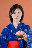 Muchacha japonesa tradicional fotografía de archivo libre de regalías