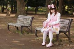 Muchacha japonesa triste Fotos de archivo libres de regalías