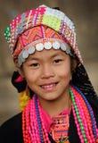 Muchacha joven de Akha, Phongsaly, Laos Fotografía de archivo libre de regalías