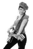Muchacha joven de la música de la belleza Fotos de archivo