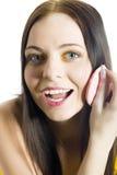 Muchacha joven del adolescente con maquillaje artístico divertido Imagenes de archivo