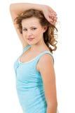 Muchacha joven del adolescente que sonríe teniendo retrato de la diversión Fotografía de archivo