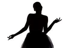 Muchacha joven del bailarín que piensa en algo Imagenes de archivo