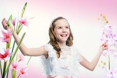 Muchacha joven feliz de la comunión Fotos de archivo