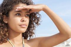 Muchacha joven hermosa de la playa Imagen de archivo