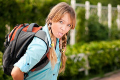 Muchacha joven hermosa del estudiante Foto de archivo libre de regalías