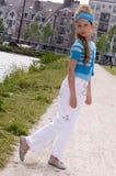 Muchacha joven linda de la manera Foto de archivo libre de regalías