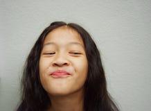 Muchacha larga feliz de Asia del pelo Fotos de archivo