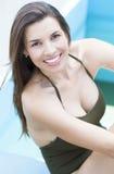 Muchacha latina linda en verano Imagen de archivo