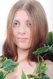 Muchacha linda con el liana Foto de archivo