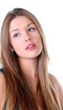 Muchacha linda con el pelo largo Fotografía de archivo