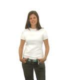 Muchacha linda de la camiseta Imagen de archivo