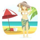 Muchacha linda de la playa Foto de archivo libre de regalías