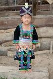 Muchacha linda de Laos Hmong Imagenes de archivo