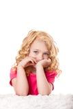 Muchacha linda de los goldilocks Fotografía de archivo libre de regalías