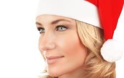 Muchacha linda de Papá Noel Fotografía de archivo libre de regalías