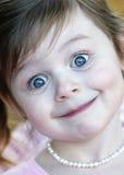 Muchacha linda del brunette de tres años Foto de archivo