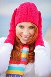 Muchacha linda del invierno Foto de archivo libre de regalías