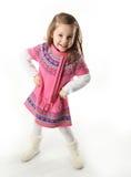 Muchacha linda del niño que desgasta una bufanda Fotografía de archivo libre de regalías