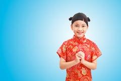Muchacha linda en Año Nuevo chino Fotografía de archivo libre de regalías