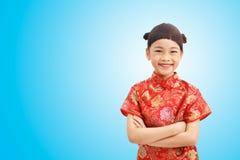 Muchacha linda en Año Nuevo chino Foto de archivo libre de regalías