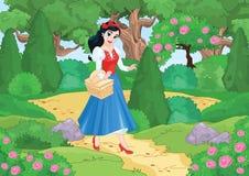 Muchacha linda en el bosque imagen de archivo libre de regalías