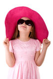 Muchacha linda en gafas de sol Fotos de archivo