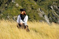 Muchacha linda en Nueva Zelanda Fotos de archivo libres de regalías