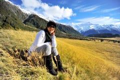 Muchacha linda en Nueva Zelanda Fotos de archivo
