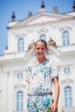 Muchacha linda en Praga Imagen de archivo