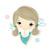 Muchacha linda que sonríe, bosquejo para su diseño libre illustration