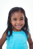 Muchacha linda que sonríe en la cámara Imagen de archivo