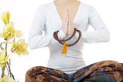 Muchacha meditating Imagenes de archivo
