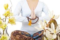 Muchacha meditating Foto de archivo libre de regalías