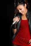 Muchacha mexicana cantante Fotos de archivo libres de regalías