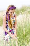 Muchacha modelo en la playa Imágenes de archivo libres de regalías